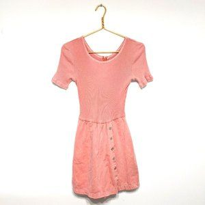 Vtg Piccalino Petites Pink Mini Skort Dress Romper